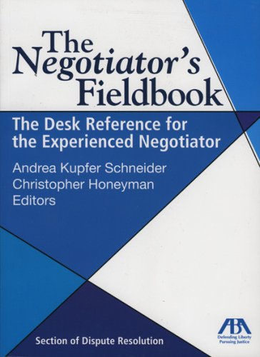 9781590315453: The Negotiator's Fieldbook: The Desk Reference for the Experienced Negotiator