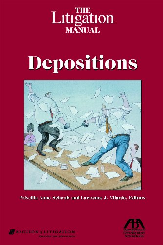 9781590316788: The Litigation Manual: Depositions