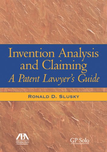 9781590318188: Invention Analysis and Claiming: A Patent Lawyer's Guide