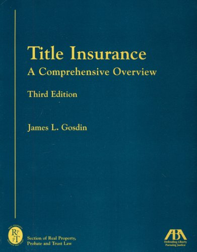 9781590318775: Title Insurance: A Comprehensive Overview