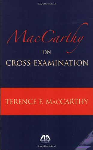 9781590318867: MacCarthy on Cross Examination
