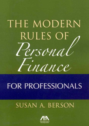9781590319239: Modern Rules of Personal Finance for Professionals