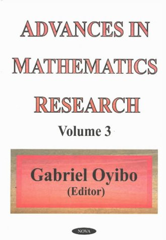 9781590334522: Advances in Mathematics Research