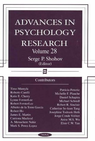 Advances in Psychology Research: Volume 28 (Hardback)