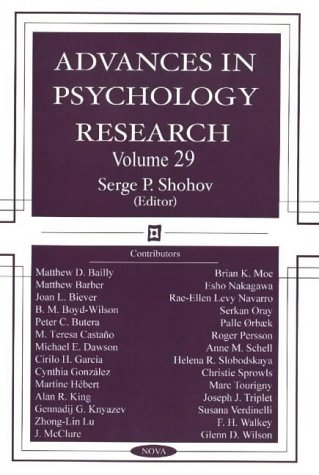 Advances in Psychology Research: Volume 29 (Hardback)