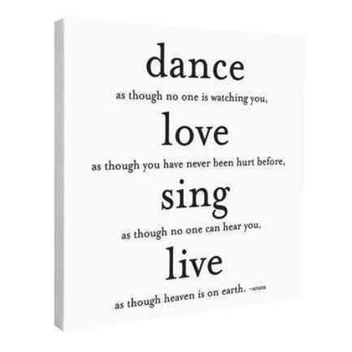 9781590352052: Dance Love Sing Live Wall Canvas