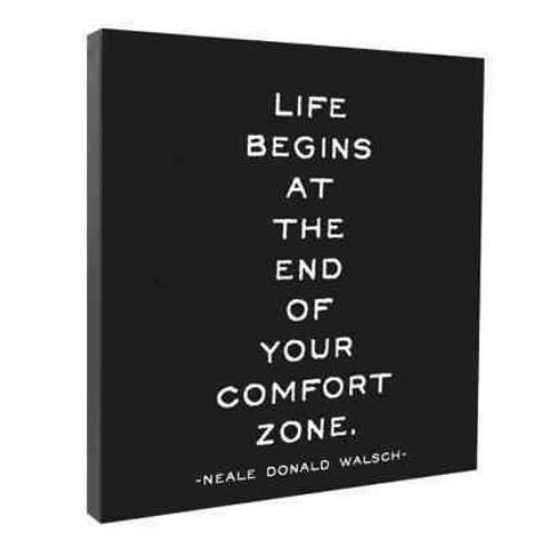 9781590353820: Life Begins At the End of Your Comfort zone Wall Canvas
