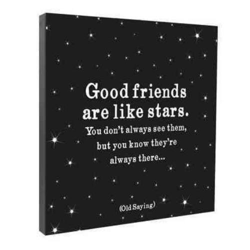 9781590354391: Good Friends Are Like Stars Wall Canvas
