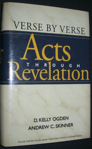 9781590385906: Verse by Verse: Acts Through Revelation
