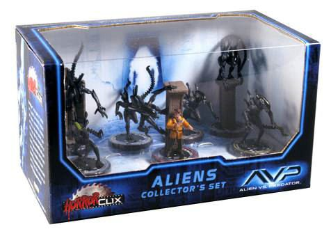 Horrorclix AVP Aliens Collector's Set: Aliens Vs. Predator: Whoever Wins, We Lose