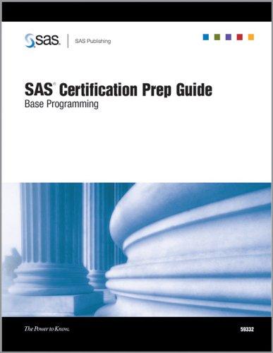 9781590473351: SAS Certification Prep Guide: Base Programming