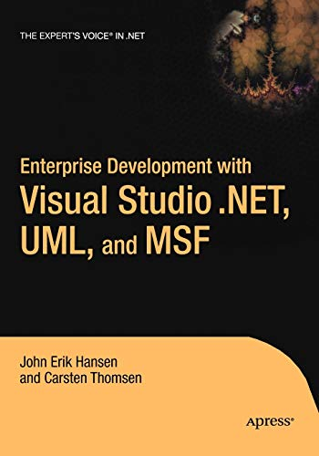 9781590590423: Enterprise Development with Visual Studio .Net, UML, and Msf (.Net Developer)