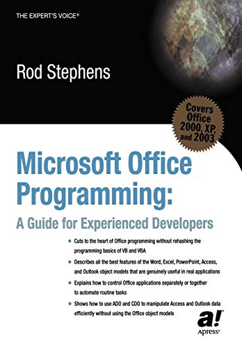 9781590591215: Microsoft Office Programming: A Guide For Experienced Developers