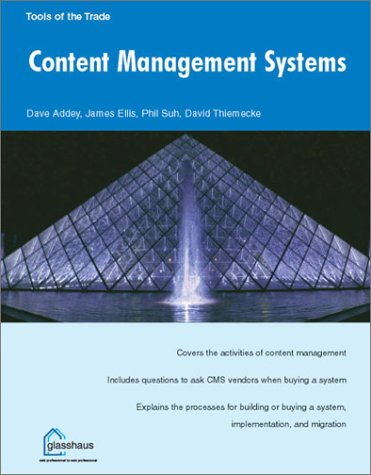 9781590591833: Content Management Systems (Tool of the Trade)