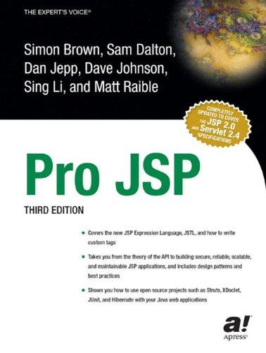 Pro JSP, Third Edition: Simon Brown, Sam