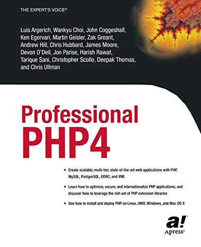9781590592489: Professional PHP4