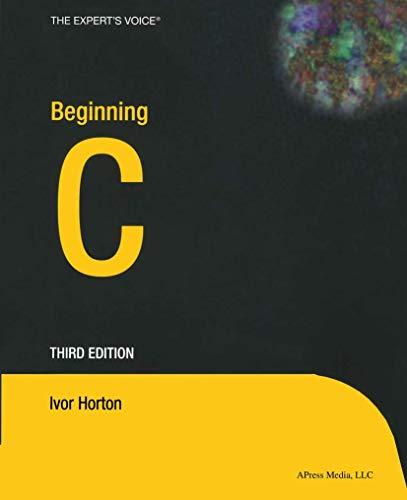 9781590592533: Beginning C (Expert's Voice)