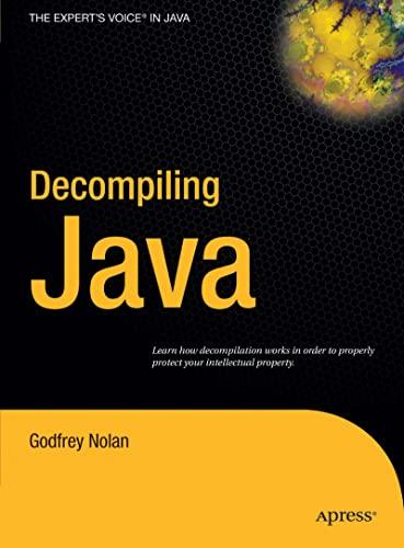 9781590592656: Decompiling Java