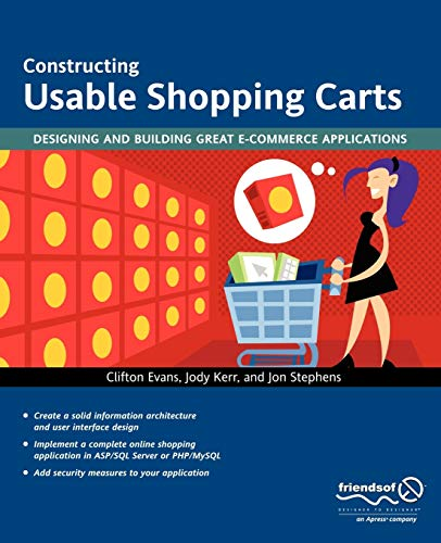 9781590594087: Constructing Usable Shopping Carts: Designing and Building Great E-Commerce Applications