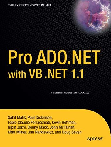 Pro ADO.NET with VB .NET 1.1: Kevin Hoffman, Fabio