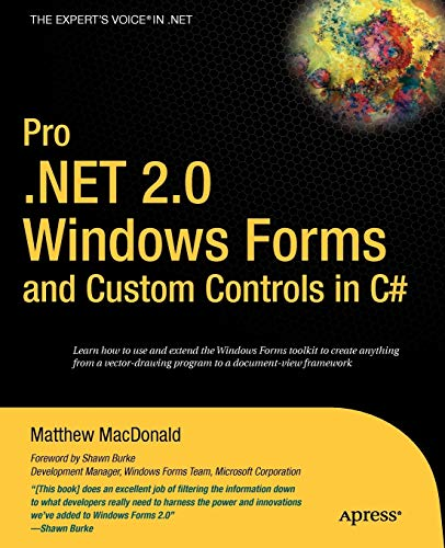 9781590594391: Pro .NET 2.0 Windows Forms and Custom Controls in C#