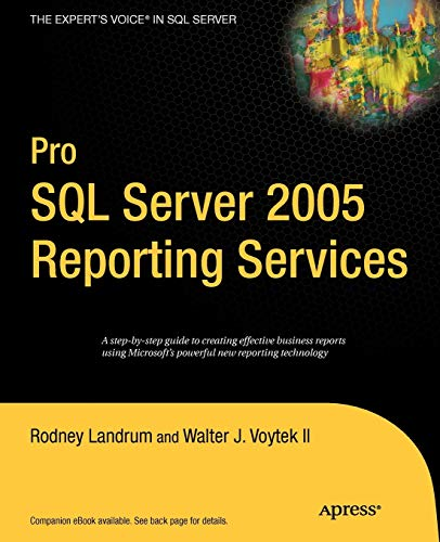 9781590594988: Pro SQL Server 2005 Reporting Services