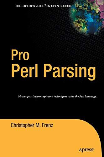 9781590595046: Pro Perl Parsing
