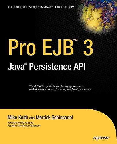 9781590596456: Pro EJB 3: Java Persistence API (Expert's Voice in Java)