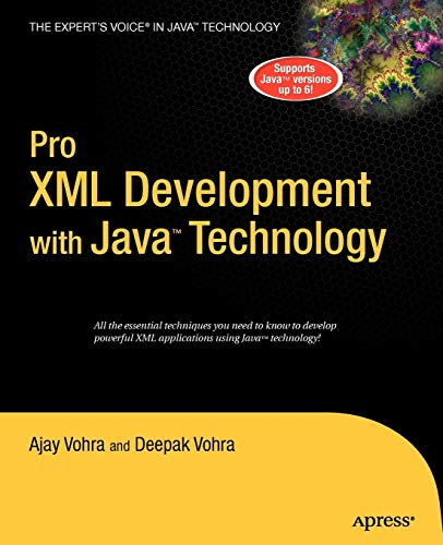 9781590597064: Pro XML Development with Java Technology