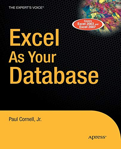 9781590597514: Excel as Your Database