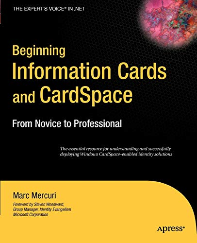 9781590598078: Beginning Information Cards & CardSpace: From Novice to Professional