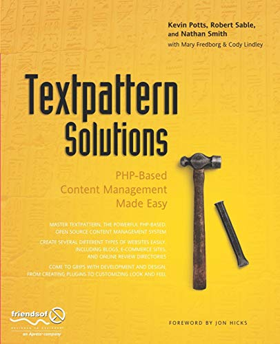 9781590598320: Textpattern Solutions: PHP-Based Content Management Made Easy