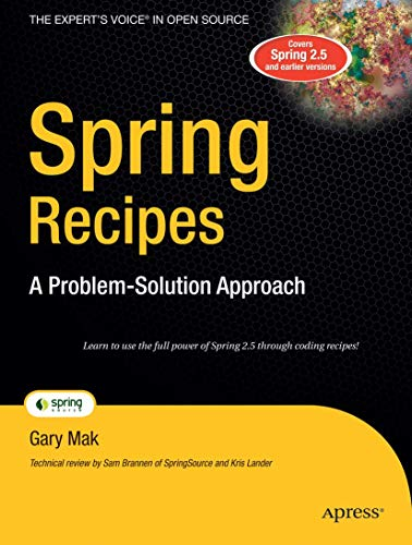 9781590599792: Spring Recipes: A Problem-Solution Approach