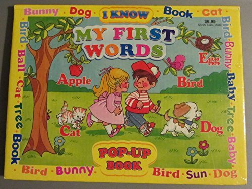 I Know My First Words Pop up Book: various