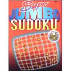 Super Jumbo Sudoku 786 Puzzles Included: Playmore Inc