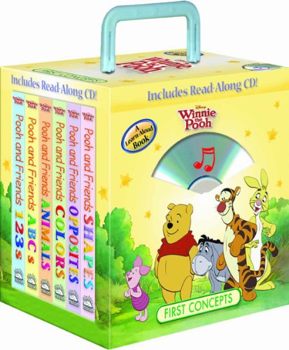 9781590693636: Disney Winnie the Pooh First Concepts 6-book Travel Pack (with audio CD and carrying case)
