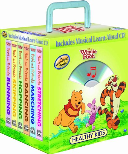 9781590694077: Disney Winnie the Pooh Healthy Kids Exercise 6- books Travel Pack (with audio CD and carrying case)