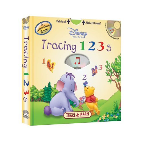 9781590694466: Disney Winnie the Pooh Tracing 123s: Trace & Learn