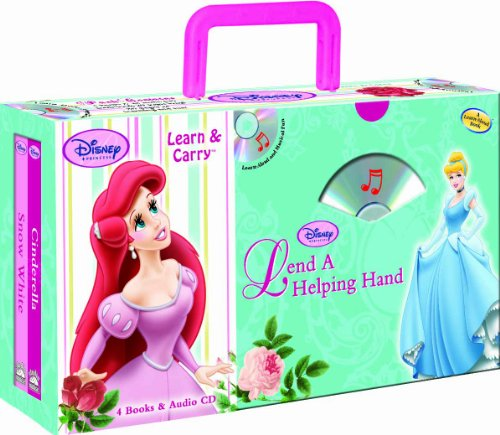 9781590696668: Disney Princess Lend a Helping Hand (4-book Learn & Carry pack with audio CD)