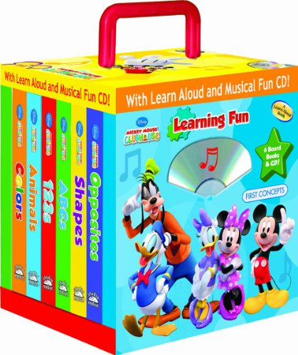 9781590696712: Disney Mickey Mouse Clubhouse Learning Fun 6- books Travel Pack (with audio CD and carrying case)