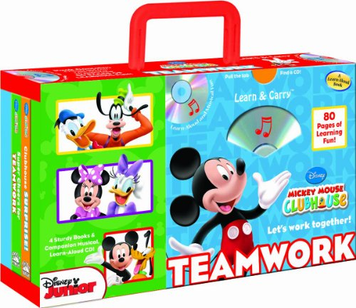 9781590697382: Disney Mickey Mouse Clubhouse Teamwork (4-book Learn & Carry pack with audio CD) (Disney Mickey Mouse Clubhouse: Learn & Carry)