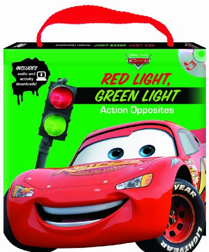 9781590698617: Disney/Pixar Cars Red Light Green Light Action Opposites (Read, Play & Go book with audio CD, easy-to-download audiobook and printable activities)