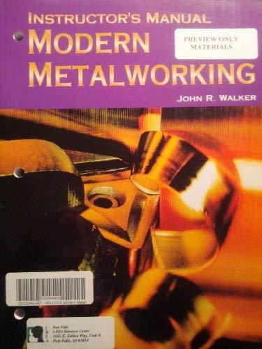 9781590702260: Modern Metalworking, Instructor's Manual