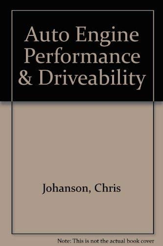 9781590702598: Auto Engine Performance & Driveability