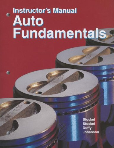 9781590703274: Auto Fundamentals Instructor's Manual