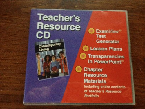 Contemporary Living Teacher's Resource Cd With Examview