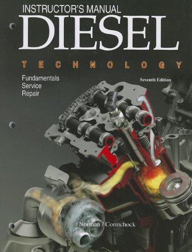 9781590707722: Diesel Technology, Instructor's Manual