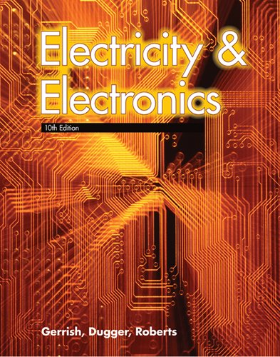 Electricity and Electronics 9781590708835 Electricity & Electronics presents solid information about the fundamentals of electricity and electronics. The dual approach of this text teaches principles and theory accompanied by hands-on learning. Text content provides a thorough grounding in electrical principles, circuitry, and components. Additional topics include electronic communication and data systems, such as radio, television, and computers. A full chapter in this edition is devoted to microcontrollers. · Experiments are included in numerous chapters with step-by-step instructions. · Projects are provided for a number of chapters, and include complete parts lists and schematics.