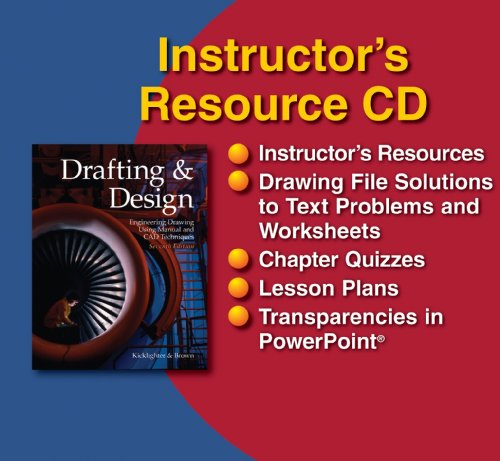 9781590709078: Drafting & Design, Instructor's Resource CD