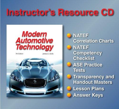 9781590709658: Modern Automotive Technology Instructor's Resource CD